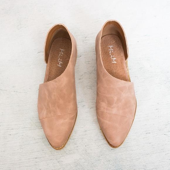 5fac2d2b9a9 iM Freya Rose Blush Pink Side Cutout Flats Shoe